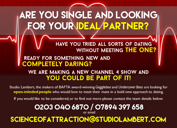 SCIENCE OF ATTRACTION CASTING FLYER