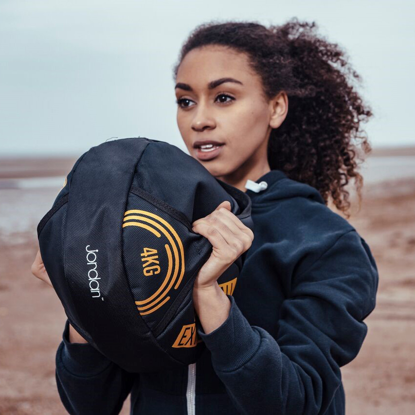 Annabella King on a shoot for Jordan Fitness on the beach for Sandra Reynolds Model Agency