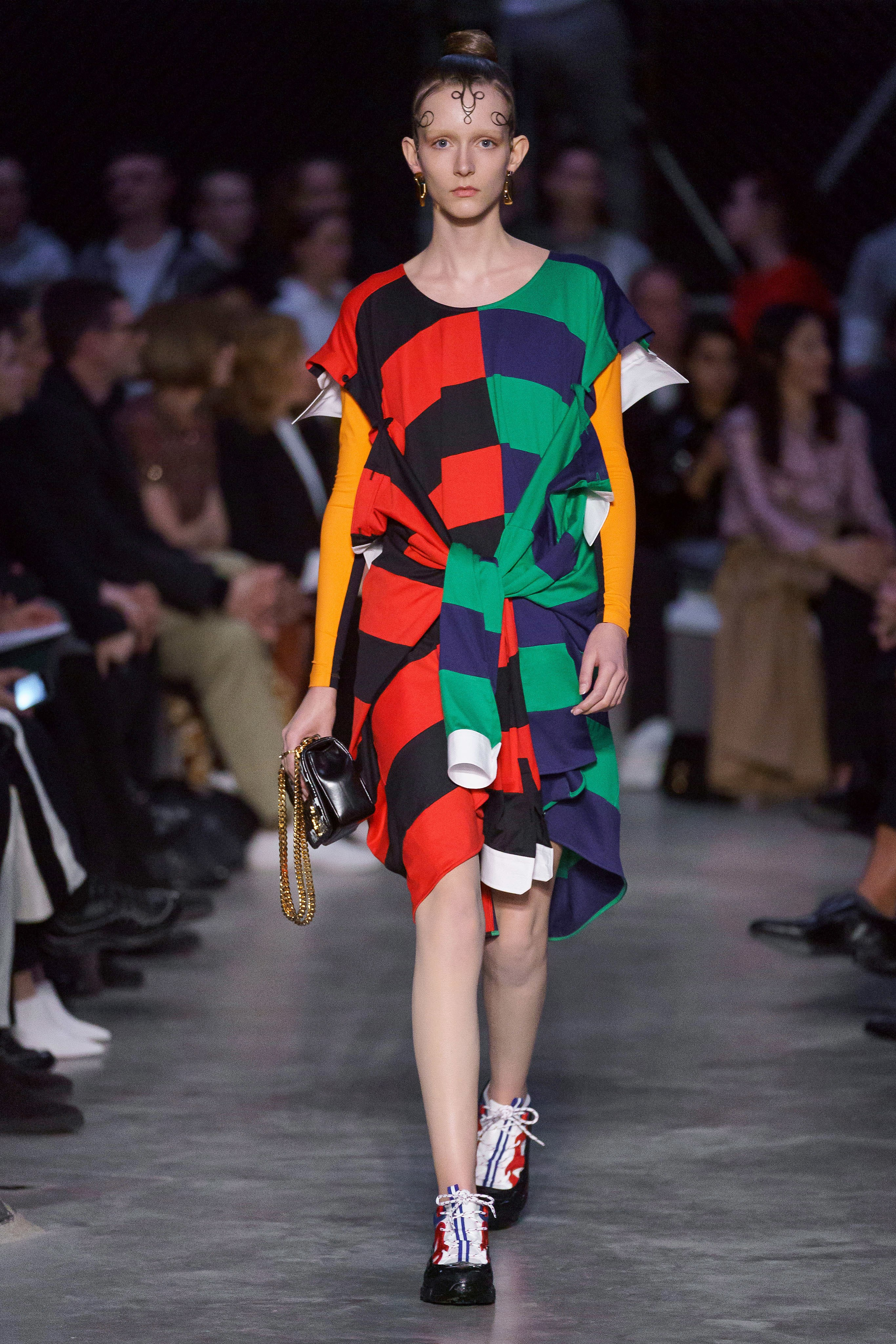 Model on the catwalk for Burberry London Fashion Week